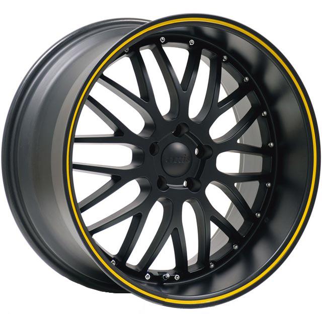 19x85 AXIS Super Penta Black W Stripe Wheels