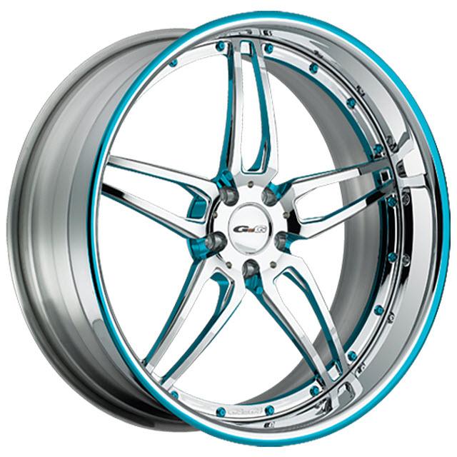 GFG 19x11 CALIFORNIA Custom Blue Wheels